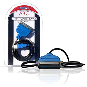 ABC Products IEEE1284 - Adaptador de cable USB y puerto paralelo ...