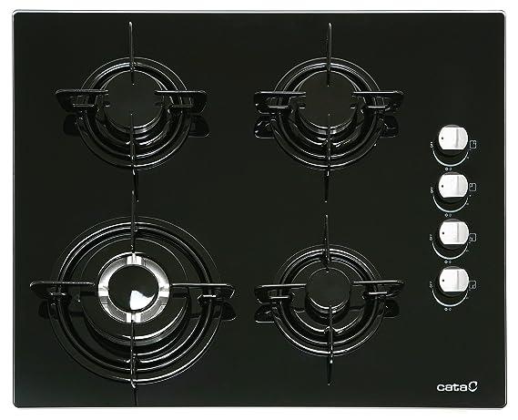 CATA CI 631 A - Placa (Incorporado, Gas, Vidrio, Giratorio, Arriba a la derecha, 8100W) Negro