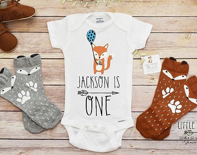 Amazon Fox Birthday Onesie Shirt First Boy Handmade
