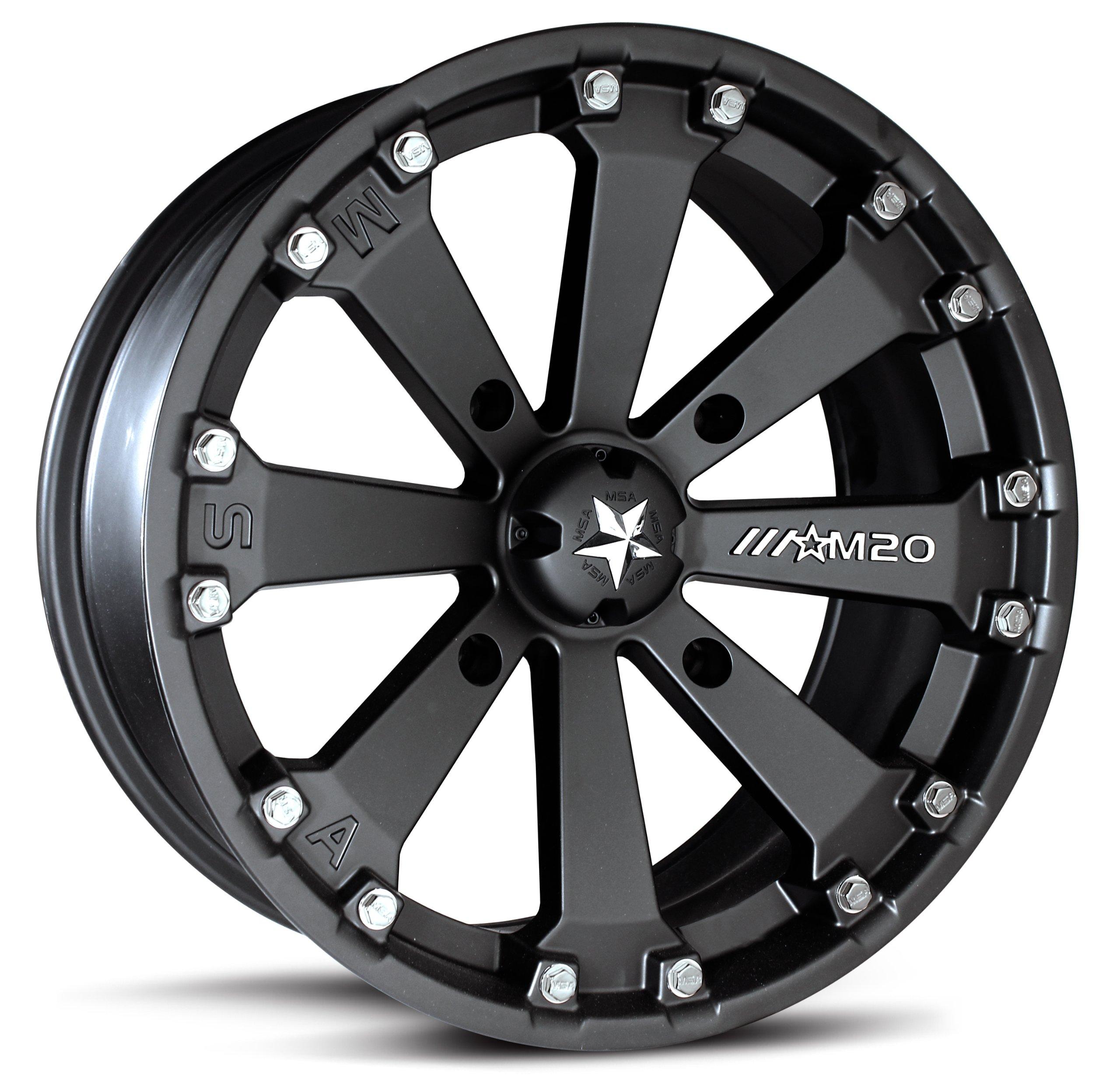 MotoSport Alloys M20 Kore ATV/UTV Wheel with Flat Black Finish (14x7/4x156mm) by MotoSport Alloys (Image #1)