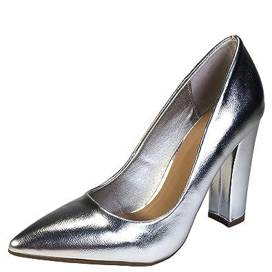f91cc07cae9 BAMBOO Women s Pointy Toe Chunky Heel Pump