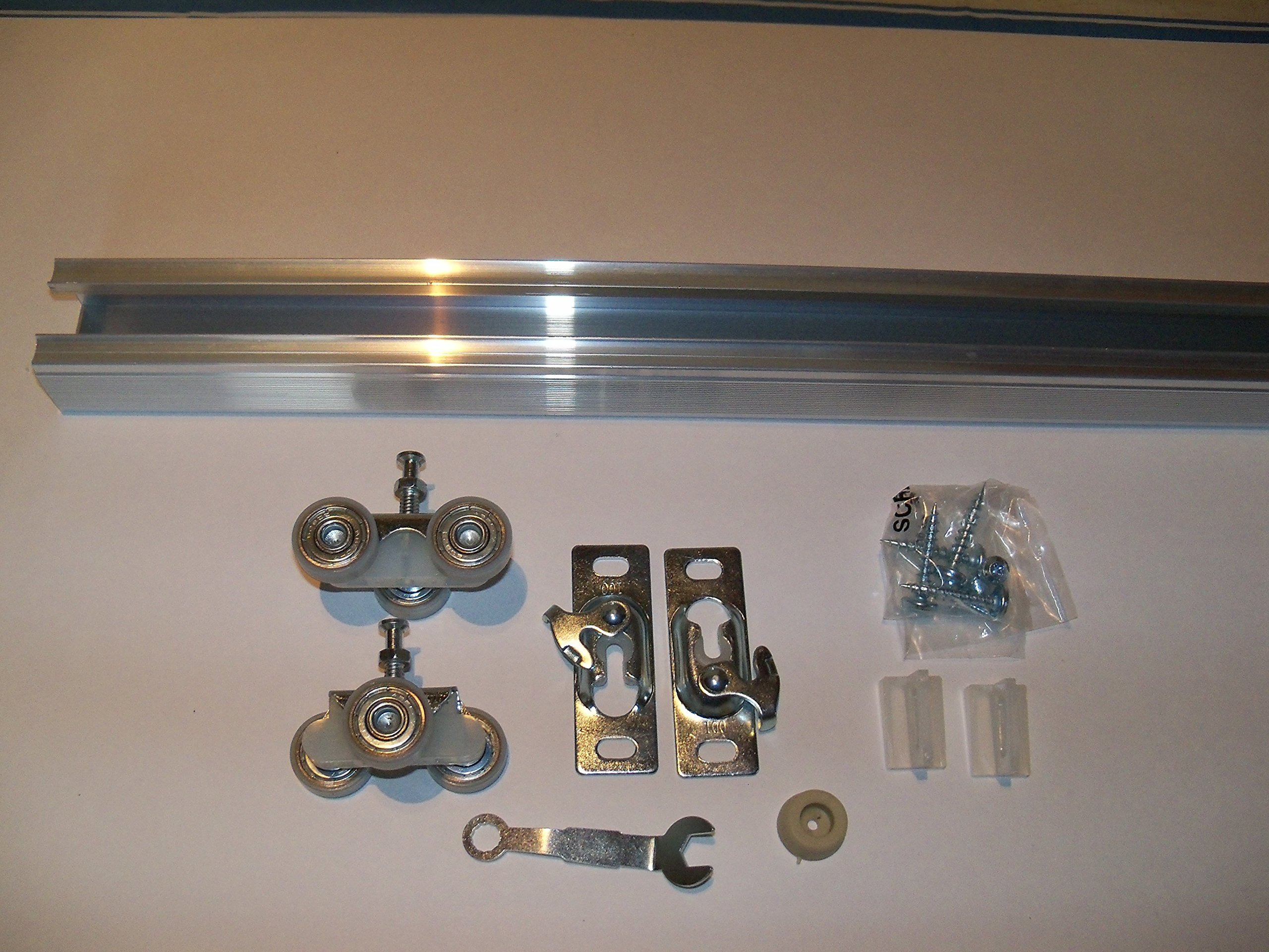 Series 2 HBP Heavy Duty Pocket Door Track and Hardware Kit (72'' 5-Pack)