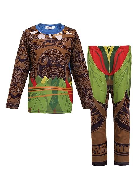 d2833f157fb Amazon.com  Moana Little Boys 2 Piece Sets Pjs Pajamas for Maui Clothes   Clothing