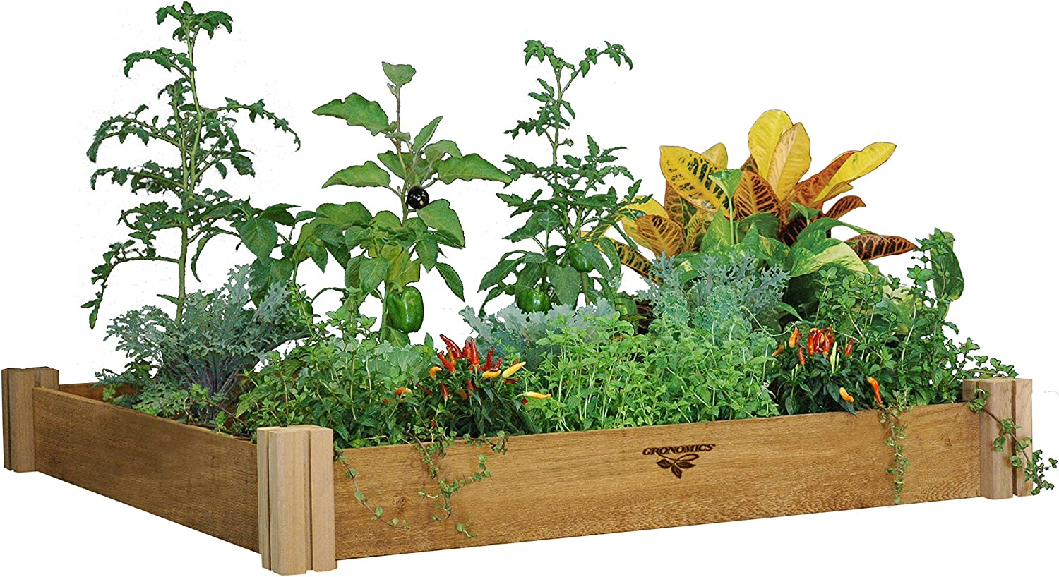 Gronomics MRGB-1L 48-48 48-Inch by 48-Inch by 6-1 2-Inch Modular Raised Garden Bed, Unfinished