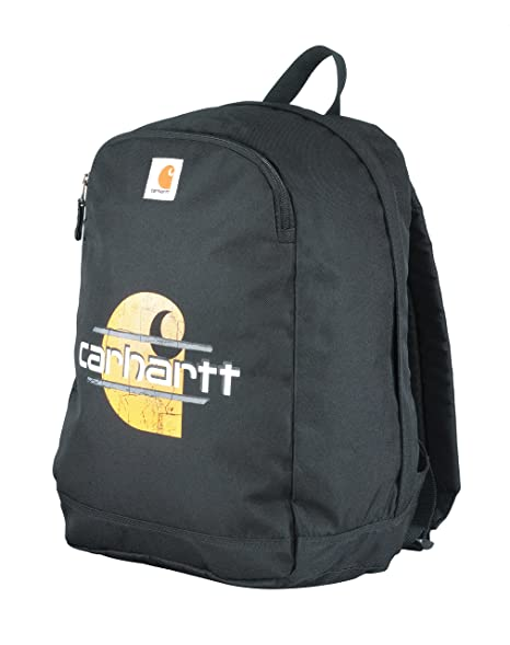 f5832aaad5 Amazon.com: Carhartt Traditional School-Backpack, Black Big C: Sports &  Outdoors