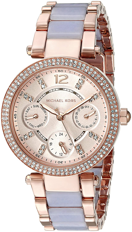 64f9abeb7f86 Amazon.com  Michael Kors Women s Mini Parker Rose Gold-Tone Watch MK6327   Watches