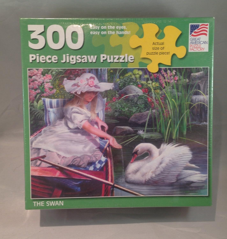 envio rapido a ti 300 Pieces Pieces Pieces Kevin Daniels The Swan Puzzle by Great American Puzzle Factory  promocionales de incentivo