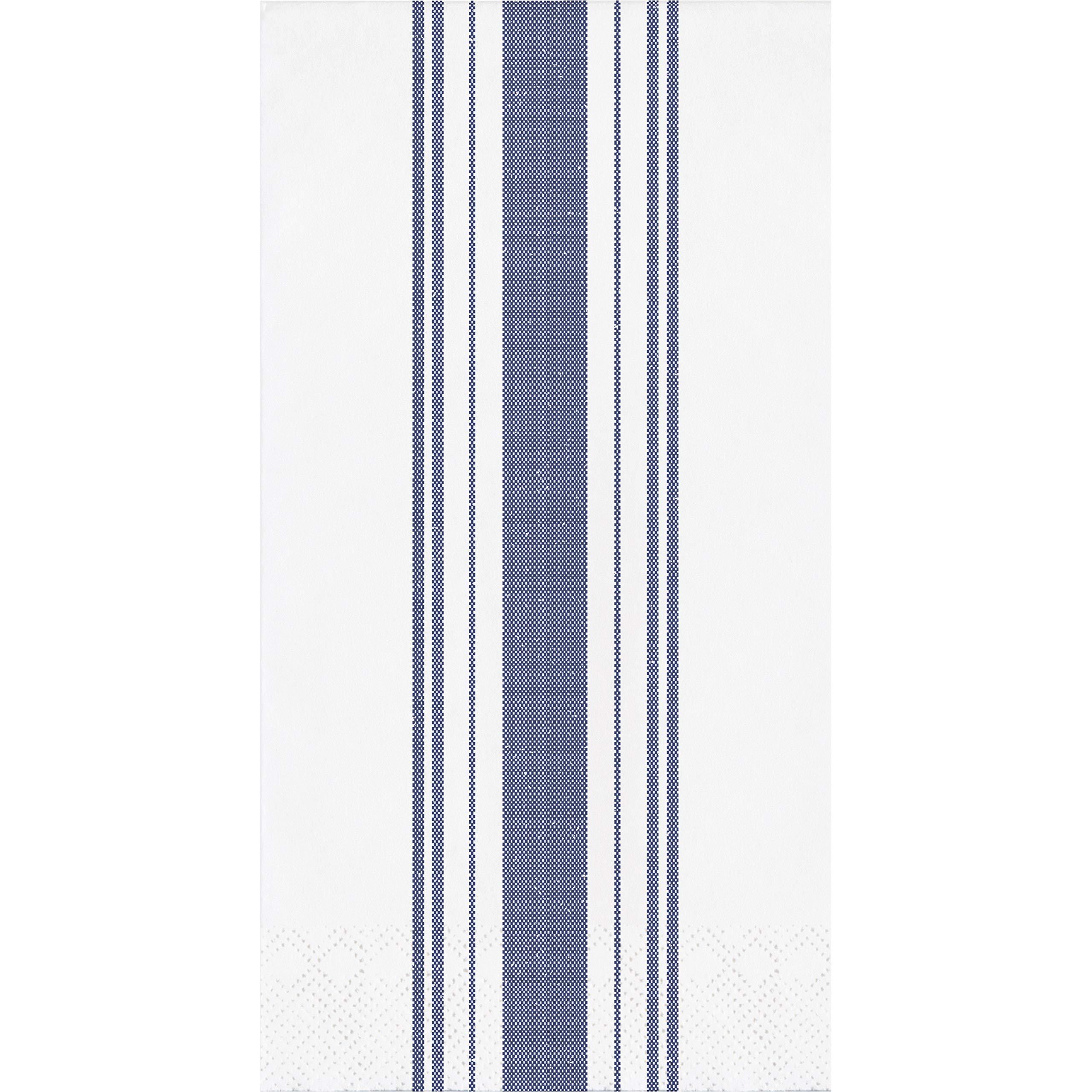 Navy Ticking Stripe Dinner Napkins, 48 ct