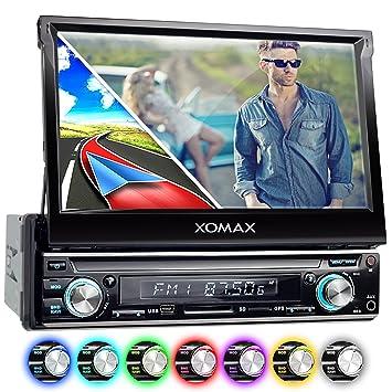 "XOMAX XM-VRSUN740BT Radio de coche con GPS I Bluetooth I 7"" / 18"