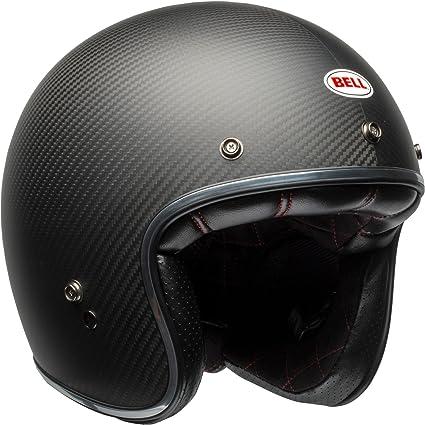 Amazon Com Bell Custom 500 Carbon Open Face Motorcycle Helmet