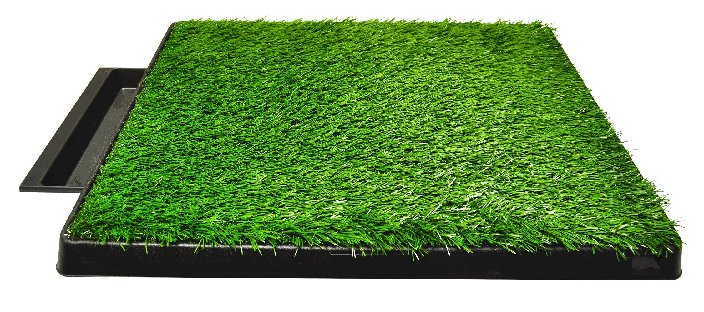 Downtown Pet Supply Dog Pee Potty Pad, Bathroom Tinkle Artificial Grass Turf, Portable Potty Trainer (20 x 25 inches with Drawer) by Downtown Pet Supply (Image #1)