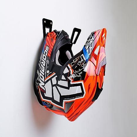 BESTUNT Soporte para Casco de Motocicleta - Bastidor de Almacenamiento para Colgar estantes | Montaje en Pared Accesorios (Negro)