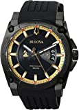 Bulova Men's Grammy Watch' Quartz Stainless Steel and Silicone Casual, Color:Black (Model: 98B294)