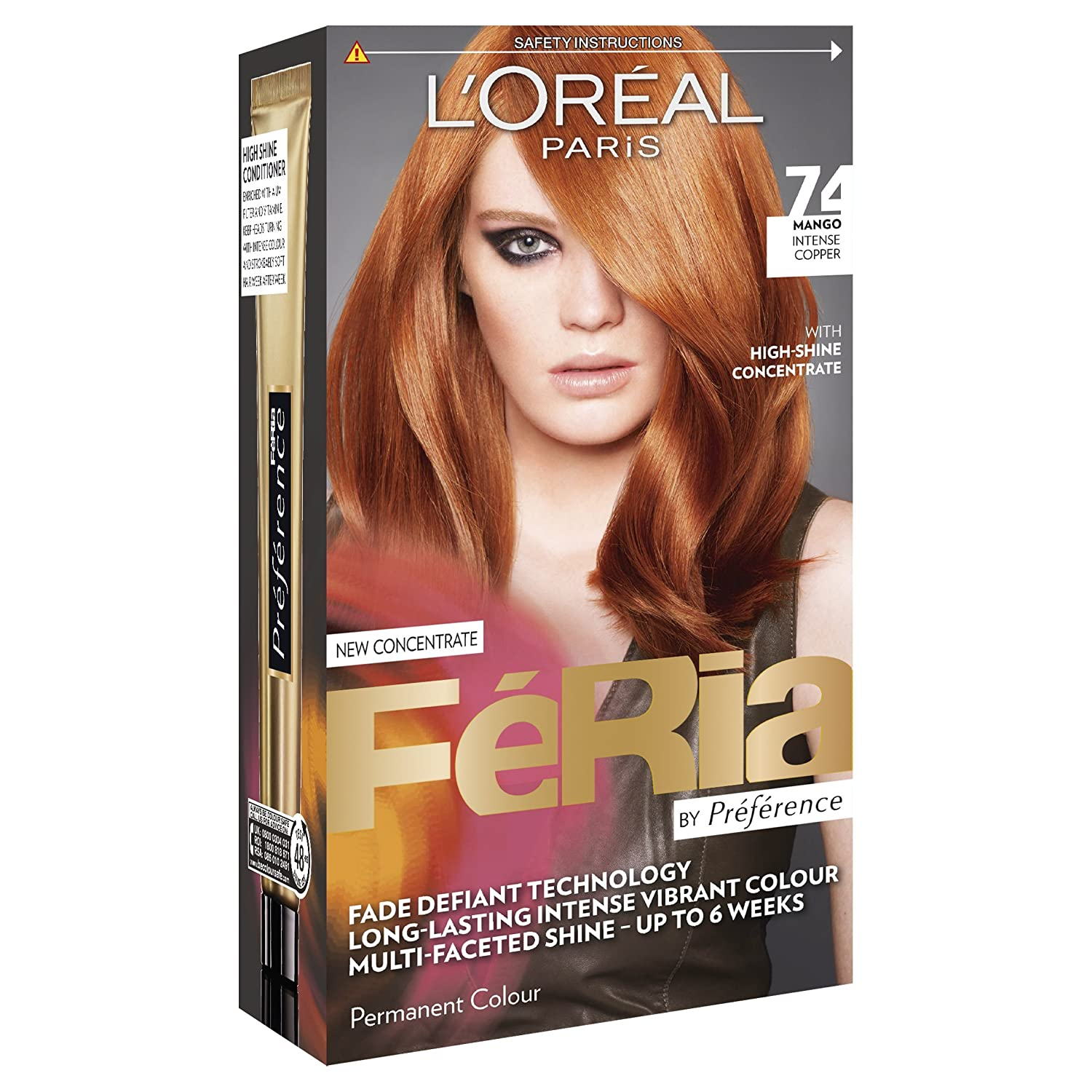 Amazon Fria Hair Colour From Loral Paris 74 Mango Intense