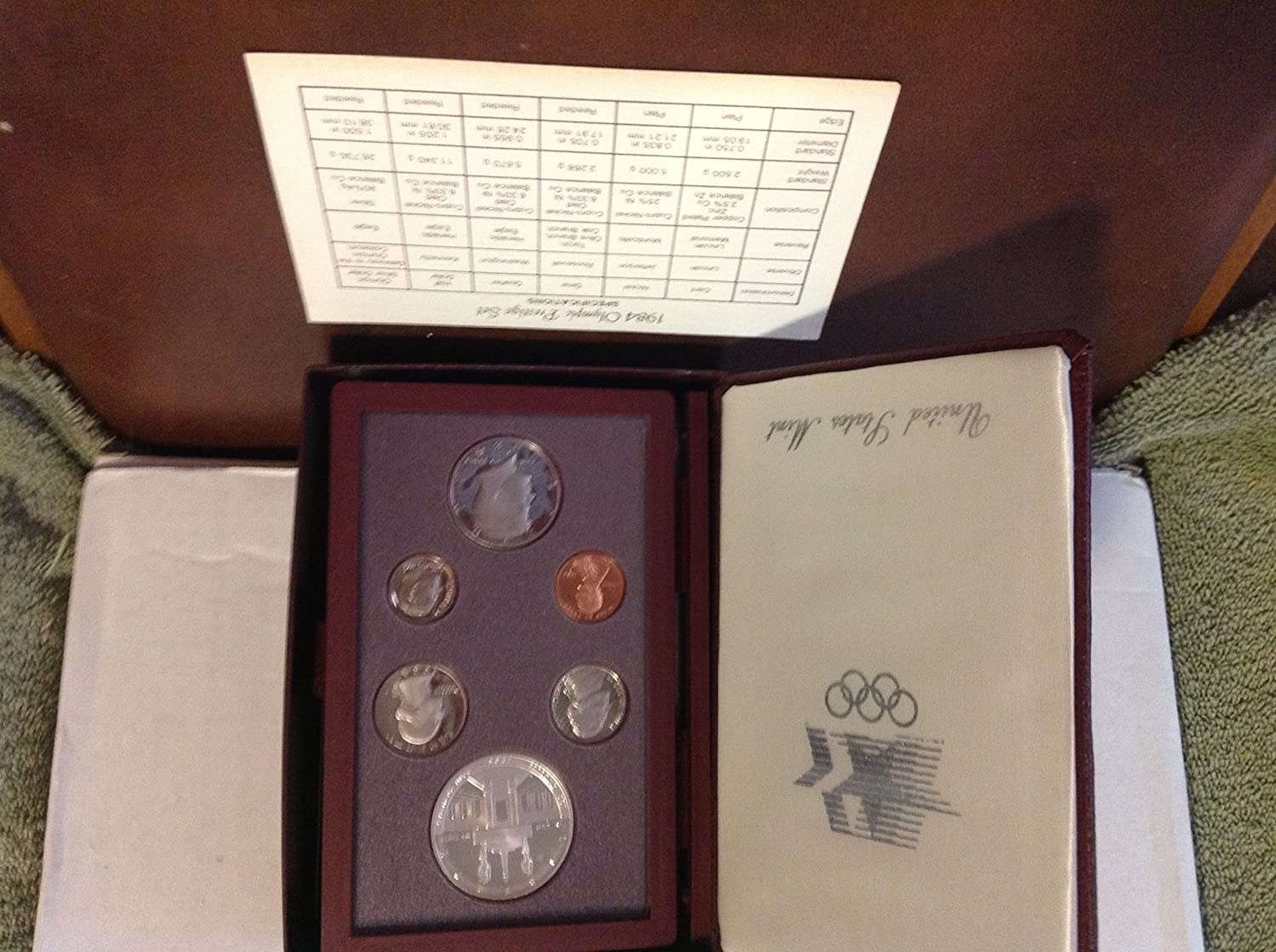 1984 S Proof Set 5 Coin set in the Original mint issued box