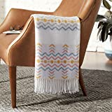 Amazon Brand – Rivet Contemporary Jagged Lines Throw Blanket - 60 x 50 Inch, Multi