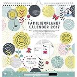 Organised Mum Family Weekly Planner/Calendrier Familial Hebdomadaire Mural (en allemand). 1 Semaine par Page. Organiseur 6 Personnes. Janvier-Décembre 2017. Pratique et Fonctionnel. Nombreux Bonus.