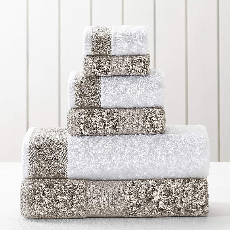 Amrapur Overseas Silver 600GSM Towel Set