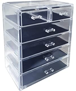 Amazoncom SONGMICS Makeup Organizer 7 Drawers Cosmetic Storage