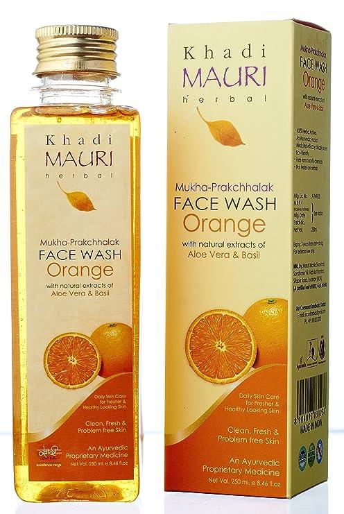 Khadi Mauri Herbal Orange Face Wash 250ml Amazon In Beauty