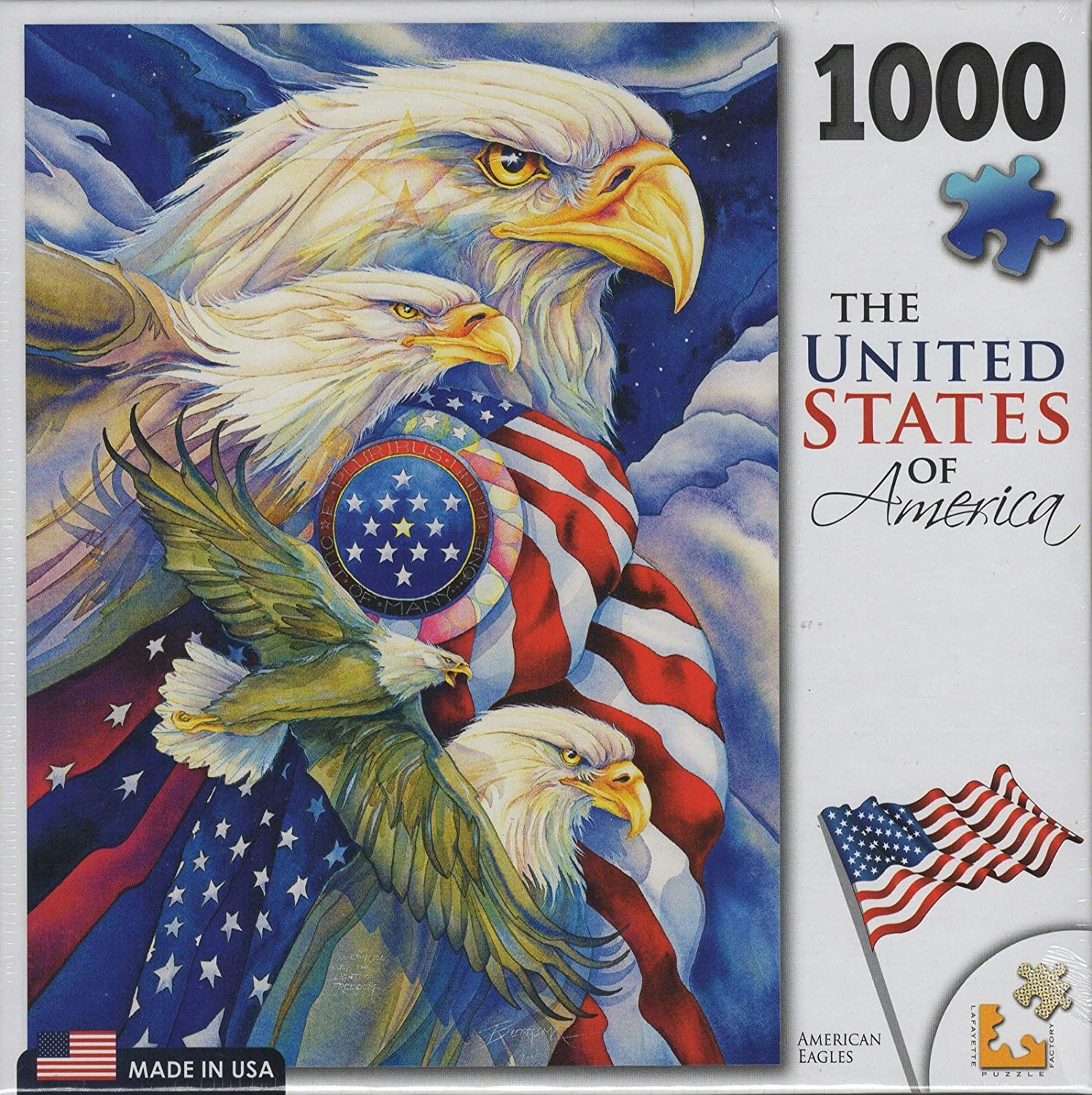 American Eagles Puzzle By Jody Bergsma Lafayette Puzzle Factory USA 1000