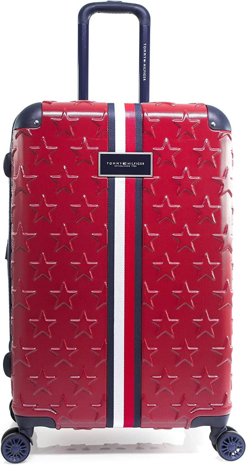 Tommy Hilfiger Starlight 24 Expandable Hardside Spinner, Red
