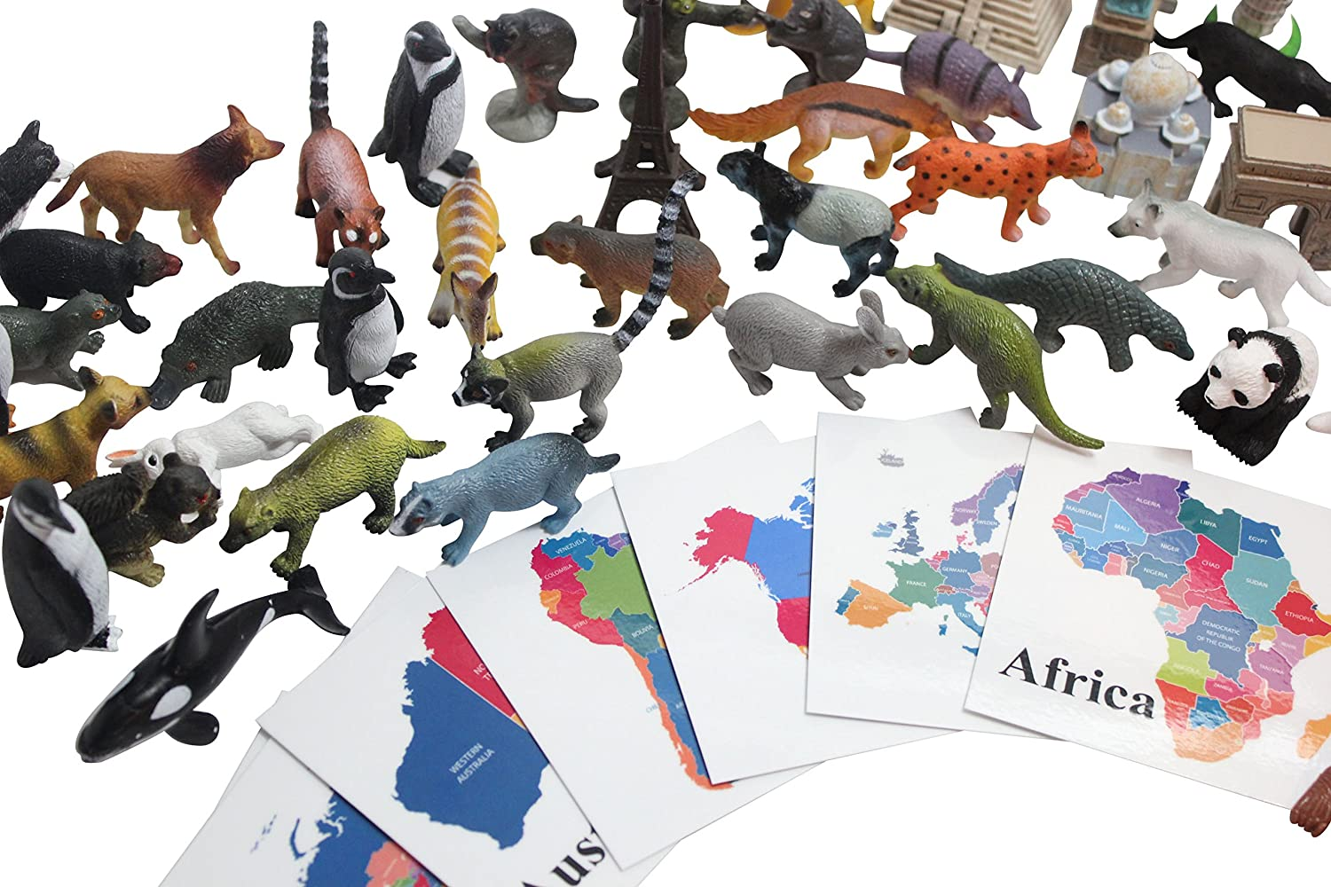 Continent critters montessori continent box materials animal continent critters montessori continent box materials animal replicas world geography work montessori geography curriculum map materials continent gumiabroncs Images