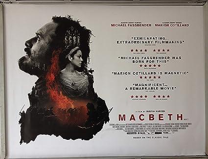 Favouritefilm Cinema Poster Macbeth 2015 Quad Michael