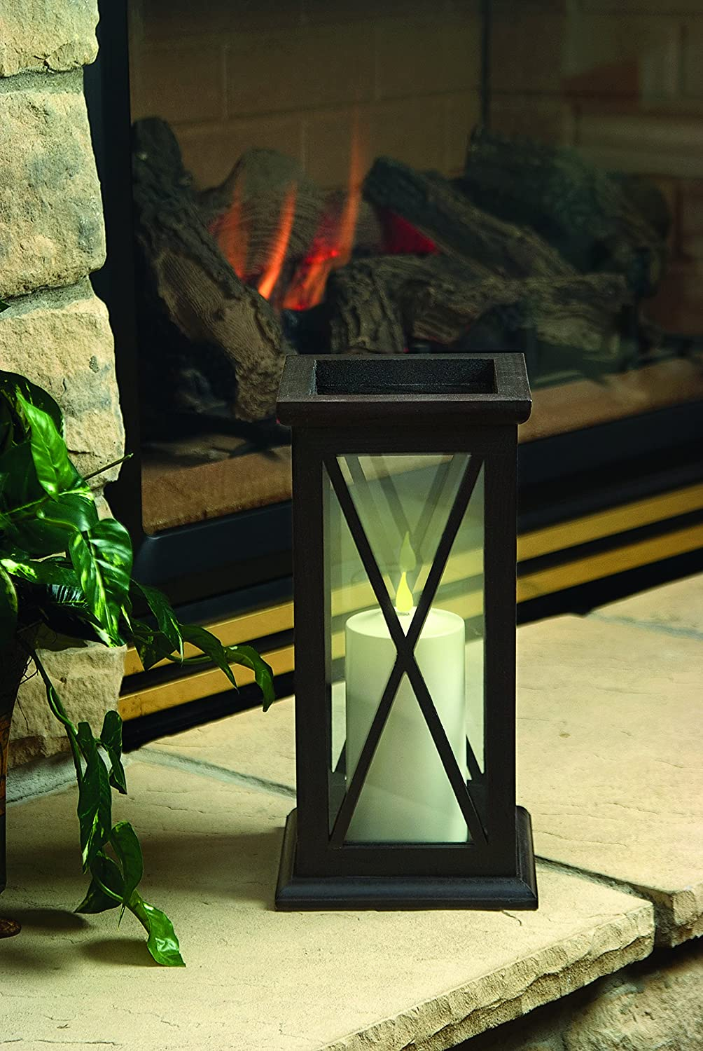 Thomas and Betts Xodus Innovations FPC1484 Weatherproof Flameless Indoor//Outdoor 4-Inch Battery Powered Pillar Candle with Flicker and Constant on Modes Carlon