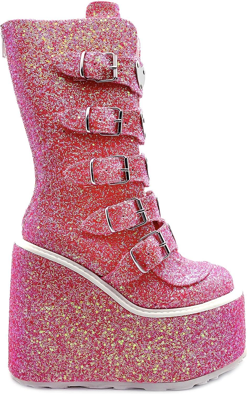 Demonia Swing 230g Pink Glitter 9 Amazon Ca Shoes Handbags