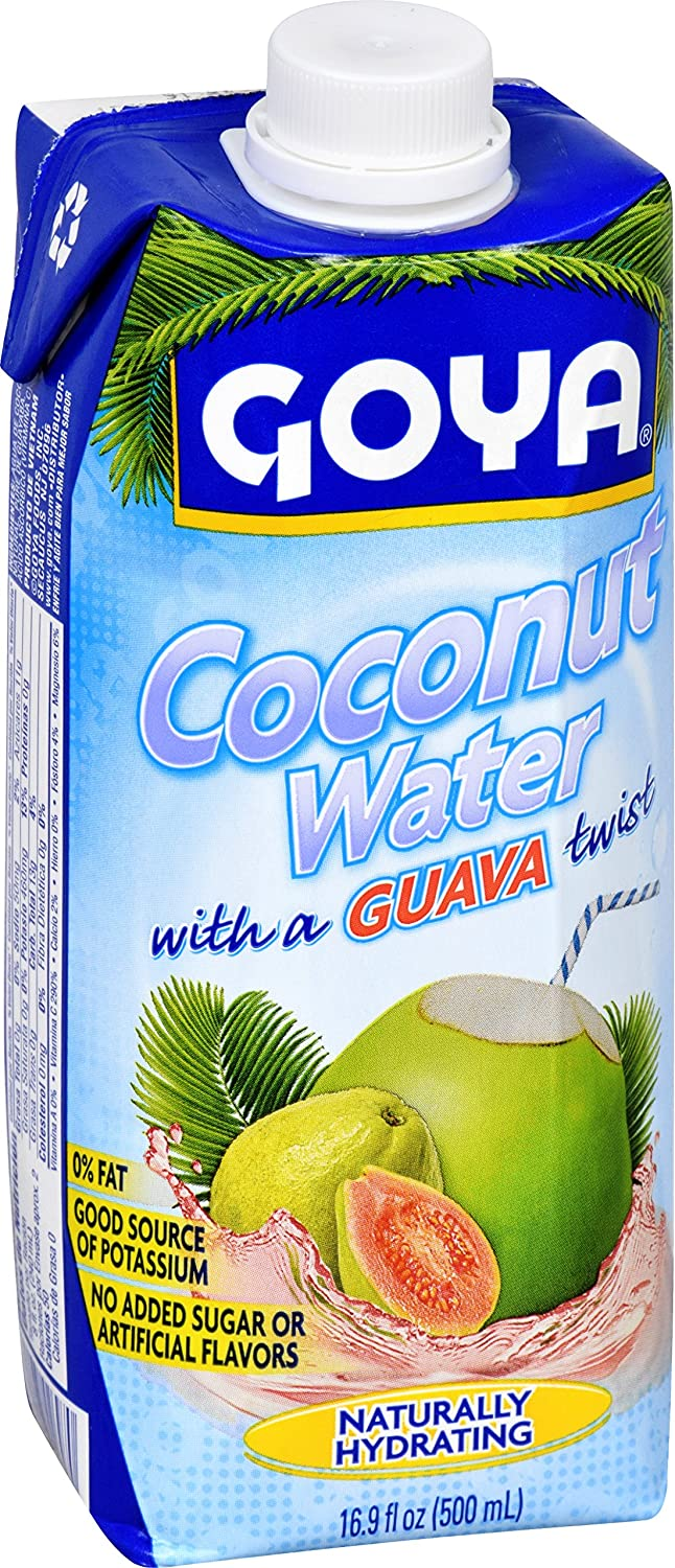 Amazon.com: Goya Foods Coconut Water with Guava, 17.64 Ounce: Prime Pantry