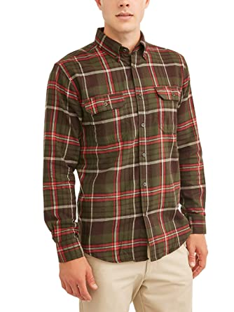 be40a28463d George Mens Long Sleeve Flannel Shirt at Amazon Men s Clothing store