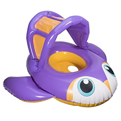 SwimWays Sun Canopy Baby Boat - Penguin: Toys & Games