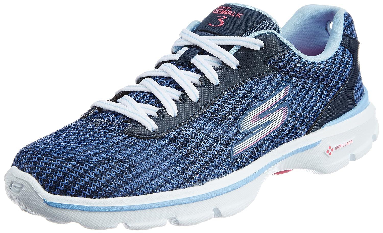 Skechers Go Walk 3 Fitknit Damen Sneaker Sneaker Sneaker Blau 2e282f