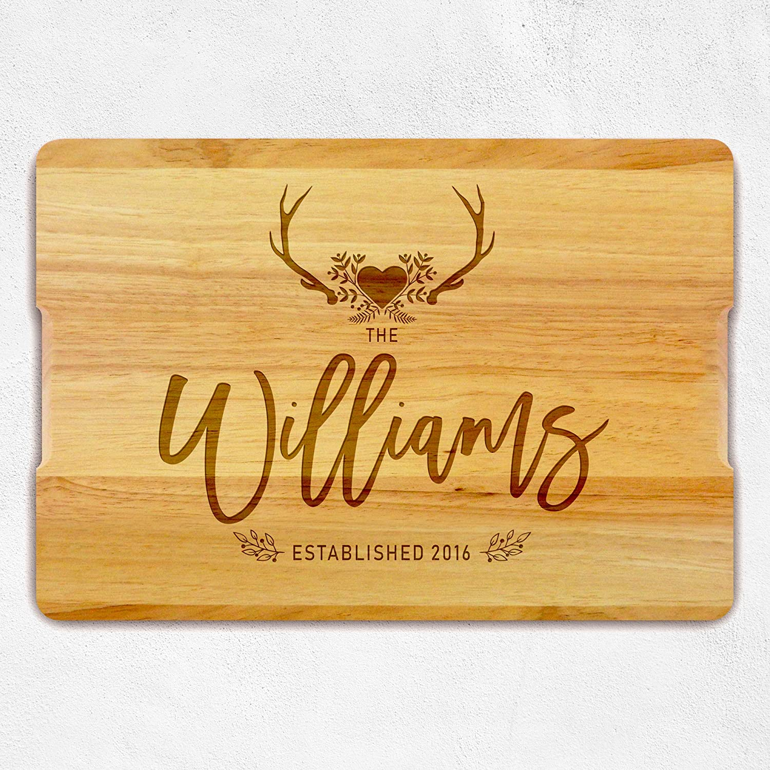 Personalized Chopping Board with Family Name, Housewarming Gift - Custom Wooden Cutting Board, Engraved Gift for Anniversary