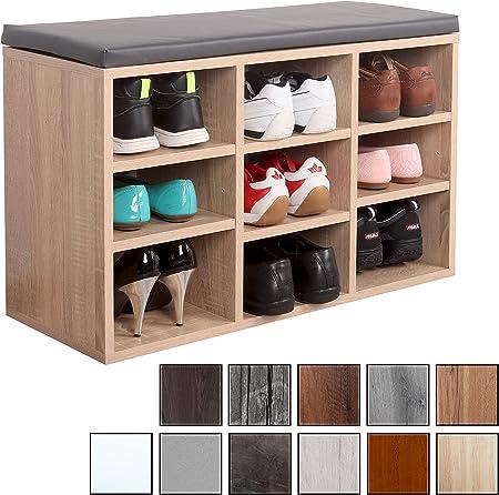 Étagère à chaussures avec banc pour 10 paires de chaussures avec coussin étagère de rangement