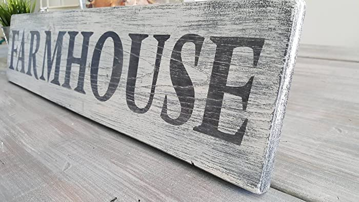 Farmhouse Wood Sign Dining Room Kitchen Decor Rustic Distressed