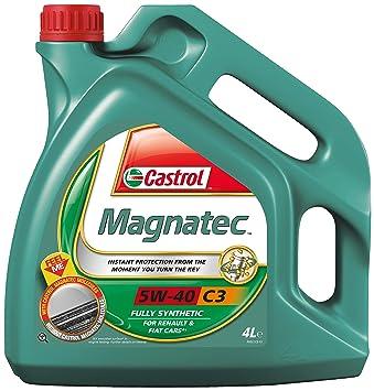 Castrol 151b38 MAGNATEC Aceite de Motor 5 W-40 C3, 4 litros: Amazon.es: Coche y moto