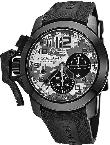 e9d513ac5a98 Graham Chronofighter Black Arrow - Reloj de pulsera para hombre con  cronógrafo automático
