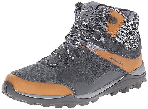 Merrell Men's Fraxion Mid Waterproof Hiking Boot, Brown Sugar, ...