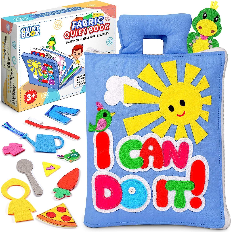 Sensory book for todller Tactile book Montessori book Educational book Quiet book Felt book Travel toy Fine motor skills Soft book