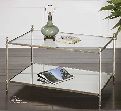 Vhomes Lights Mirrored Glass Coffee Table The Gannon Collection Coffee-Tables