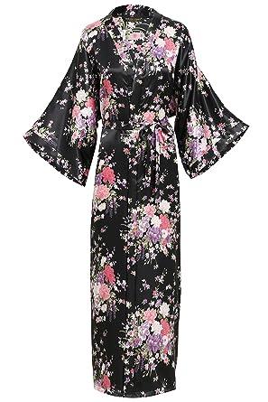 """29dacc9e1532 BABEYOND Womens Kimono Robe Long Floral Wedding Robes for Bridesmaids Kimono  Nightgown Sleepwear Kimono Outfit 53"""""""