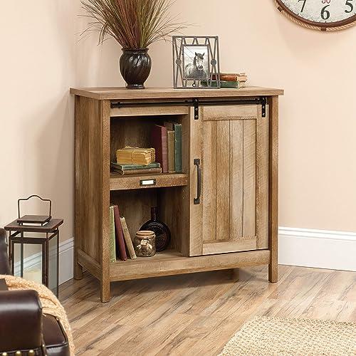 Sauder Adept Storage Accent Storage Cabinet, For TV s up to 39 , Craftsman Oak finish