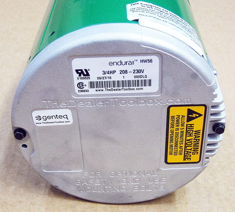 3//4 HP Electric Motor ECM Open Air-Over