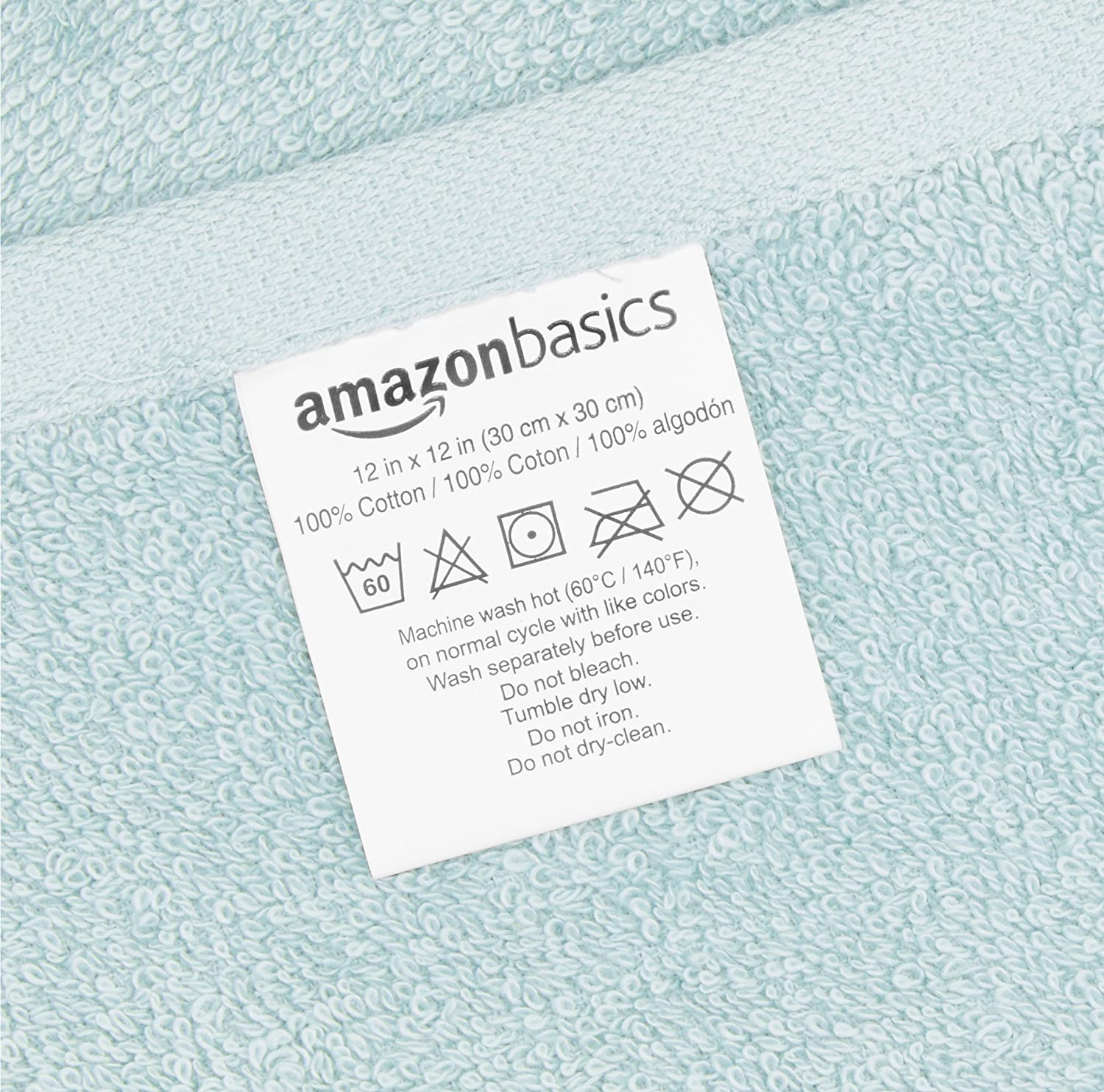 Pack of 24 Multi-Color: Seafoam Green White Basics Washcloth Face Towels Ice Blue