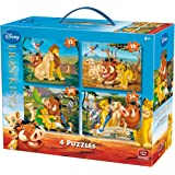 """KING 5137 """"LION KING"""" 4-in-1 Disney Puzzle (12/16/20/24-Piece)"""