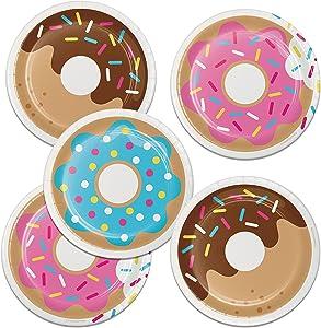 Creative Converting Donut Time Dessert Plates, 24 ct