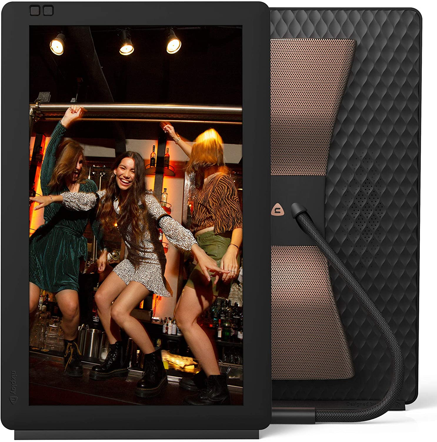 Nixplay Seed Wave 13.3 Inch WiFi Digital Picture Frame with Bluetooth Speakers, Share Moments Instantly via App or E-Mail : Electronics
