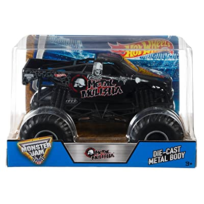 Hot Wheels Monster Jam Metal Mulisha Vehicle: Toys & Games